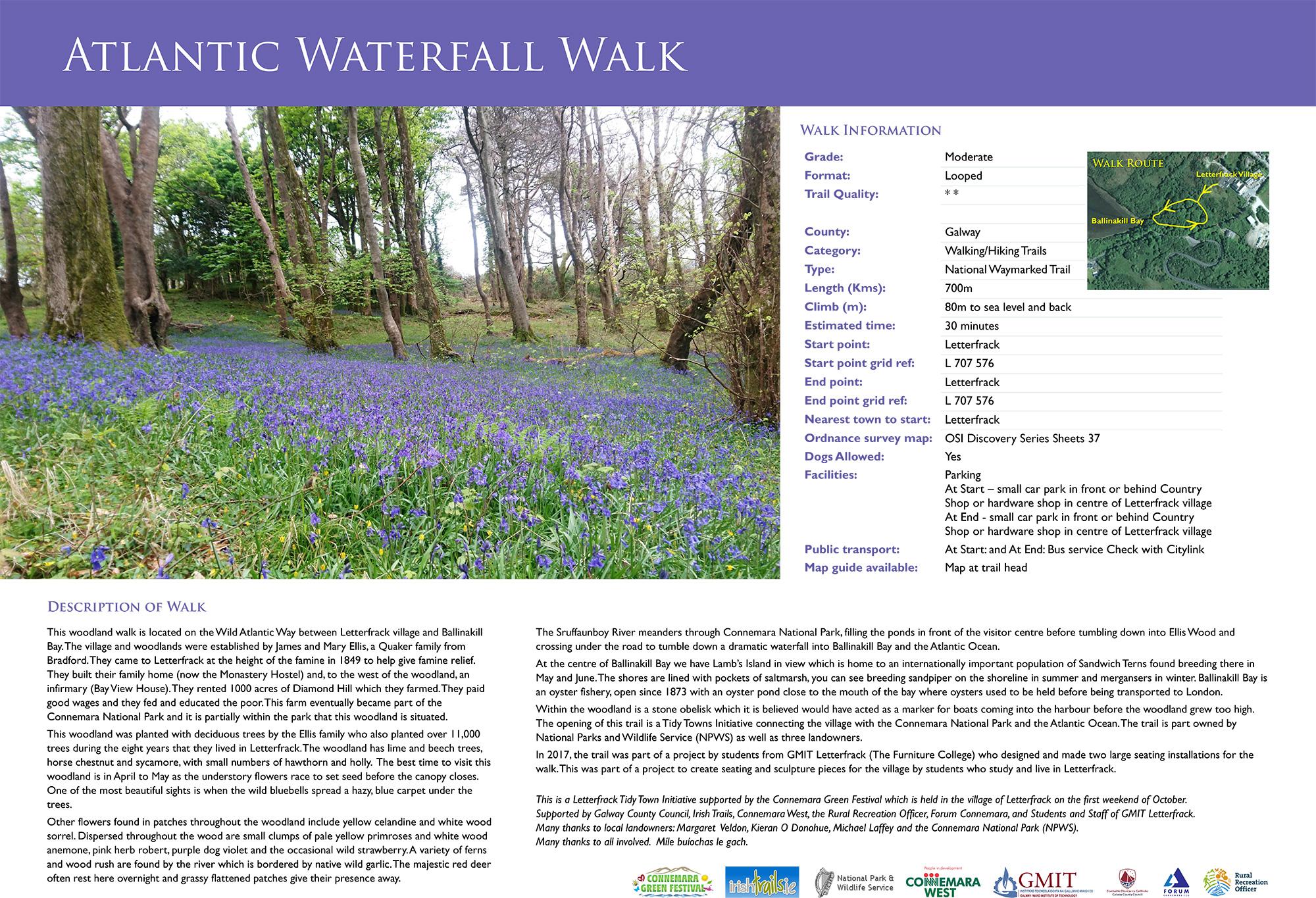 Atlantic Waterfall Walk, Letterfrack, Co. Galway